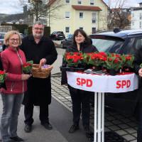 Der SPD-Ortsverein Wernberg-Köblitz verteilte auch dieses Jahr österliche Blumengrüße